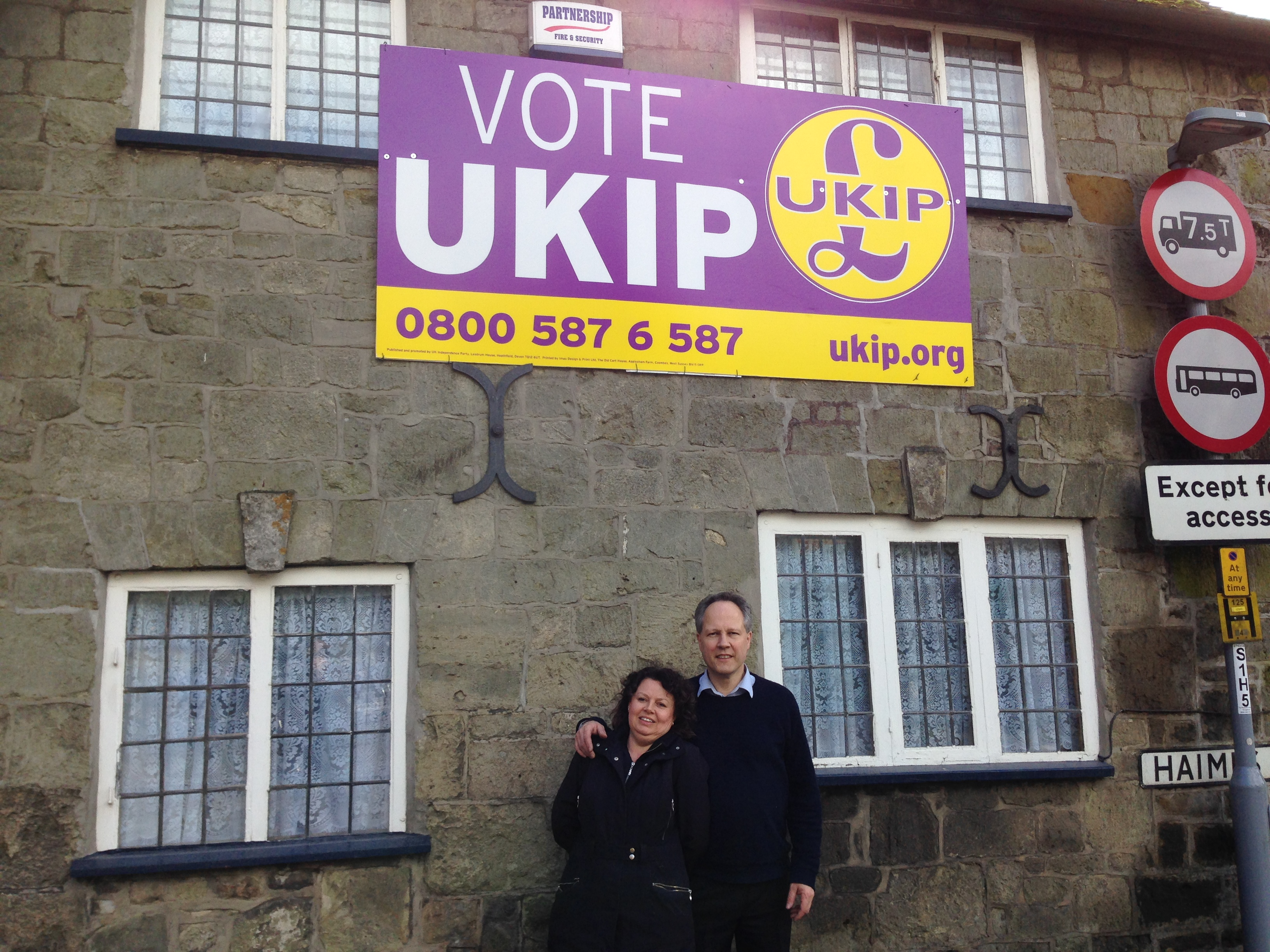 Steve Unwin and UKIP Poster