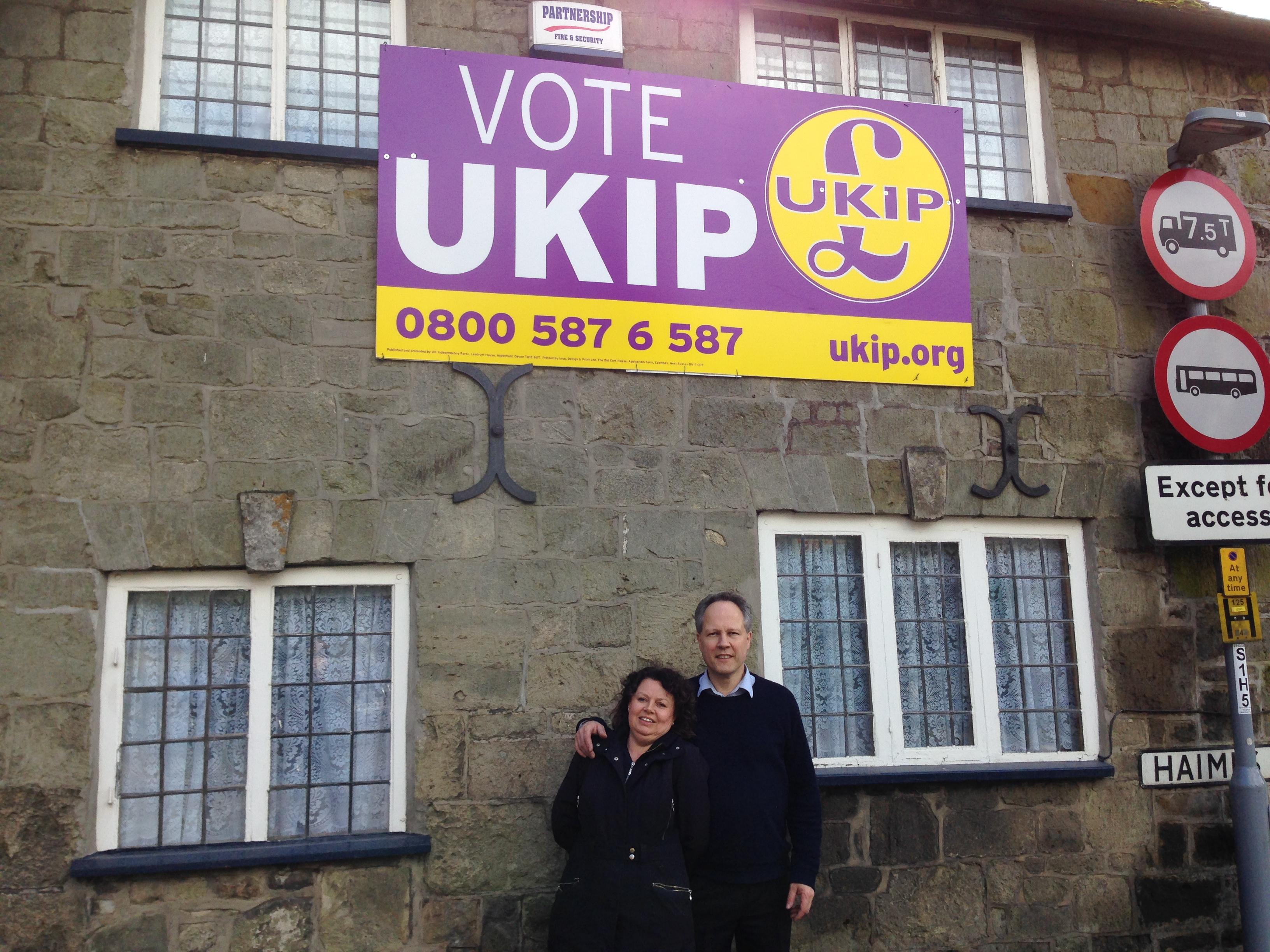 Steve Unwin and UKIP Poster