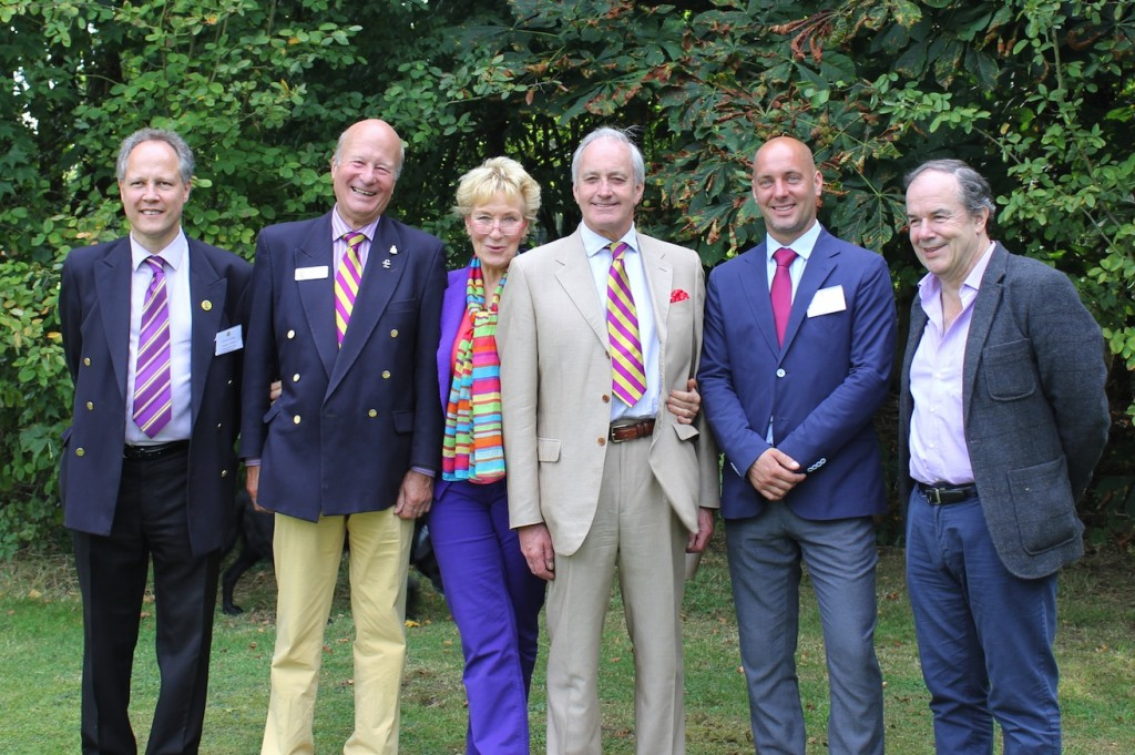 UKIP Dorset PPCs (L to R) Steve Unwin, David glossop, Richard Turner and Tom Rbython with Christine and Neil hamilton
